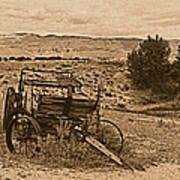 Old West Wagon Art Print