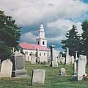 Old White Church Cemetery Art Print