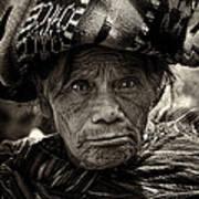 Old Woman Of Chichicastenango Art Print