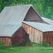 Old Wood Barn Art Print by Melanie Blankenship