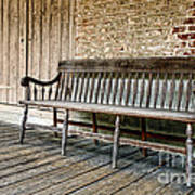 Old Wood Bench Art Print