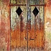 Old Wooden Door In French Quarter Art Print