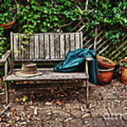 Old Wooden Garden Bench  Art Print