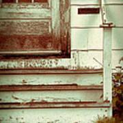 Old Wooden Porch Art Print
