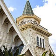 Old Wooden Victorian Chapel Church Steeple Fine Art Landscape Photography Print Art Print