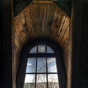Old Wooden Window Art Print