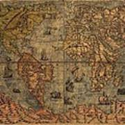 Old World Map Art Print by Dan Sproul