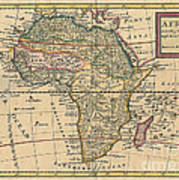 Old World Map Of Africa Art Print