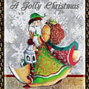 Old World Santa Clause Christmas Art Original Painting By Megan Duncanson Art Print