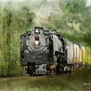 Old World Steam Engine Art Print