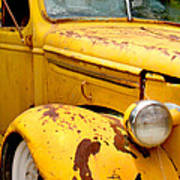 Old Yellow Truck Art Print