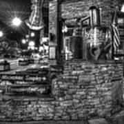 Ole Smoky Tennessee Moonshine In Black And White Art Print