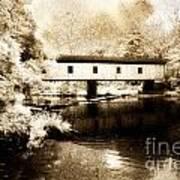Olin Dewey Covered Bridge 35-04-03 Art Print