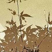 Olive And Brown Haiku Art Print