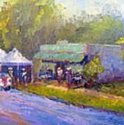 Olive Market Festival Art Print