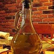 Olive Oil On Table Art Print