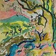 Olive Orchards Art Print