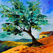 Olive Tree On The Hill Art Print by Elise Palmigiani