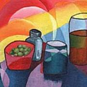 Olives Salt N Beer Art Print by William Killen