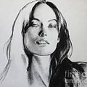 Olivia Wilde Art Print by Miguel Lopez