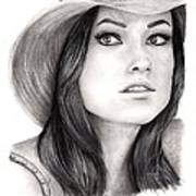 Olivia Wilde Art Print by Rosalinda Markle