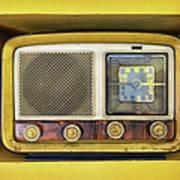 Ols School Radio Art Print
