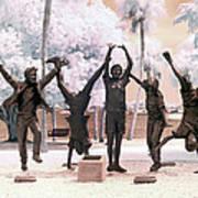 Olympic Wannabes Sculpture By Glenna Goodacre Near Infrared Art Print