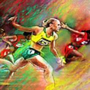 Olympics 100 Metres Hurdles Sally Pearson Art Print