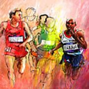 Olympics 10000m Run 01 Art Print