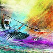 Olympics Canoe Slalom 03 Art Print