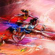 Olympics Heptathlon Hurdles 01 Art Print