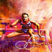 Olympics Heptathlon Hurdles 02 Art Print