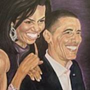 Ombience Of Love The Obama Art Print
