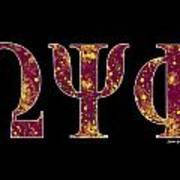 Omega Psi Phi - Black Art Print
