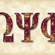 Omega Psi Phi - Parchment Art Print