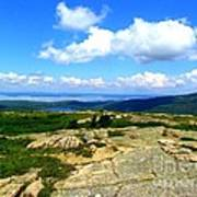 On A Mountain In Maine Art Print