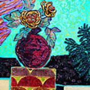 On A Pedestal Art Print by Diane Fine