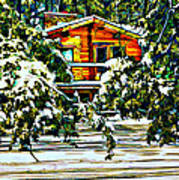 On A Winter Day Art Print