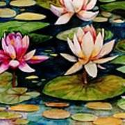 On Lily Pond Art Print