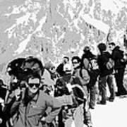 On Mount Blanc Art Print