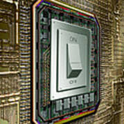On Off Switch On Circuits Art Print