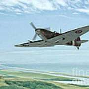 Spitfire On Patrol Art Print