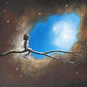 On Silent Wings By Shawna Erback Art Print by Shawna Erback