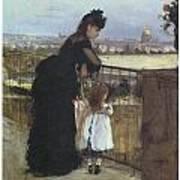 On The Balcony Art Print