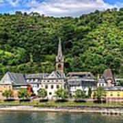 On The Banks Of The Rhine  Art Print
