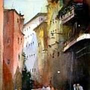 On the Canal - Venice Art Print