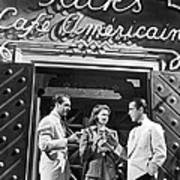 On The Casablanca Set Art Print