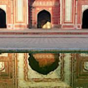 On The Grounds Of The Taj Mahal Art Print