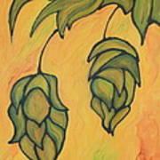 On The Hop Vine  Art Print