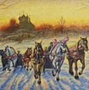 On The Open Snow Art Print